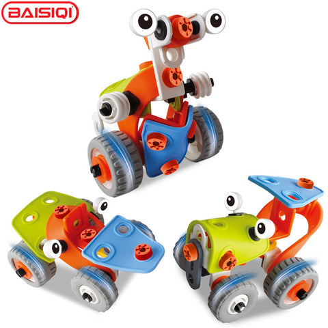 BAISIQI 3-IN-1 3D DIY Alien Robot Transformer Truck