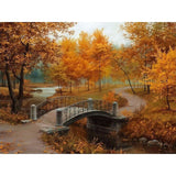DIY Oil Painting - Autumn Landscape - DIY Art Home Decor
