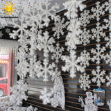 Home Decor Textile - White Snow Flakes - Party Decor