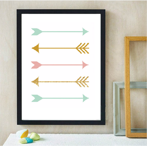 Frame less Canvas Art - Arrows - DIY Art