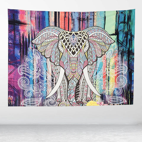 Indian Mandala Tapestry - Elephant - Home decor