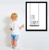 Frame less Canvas Art - Live Simply Quote - DIY Art