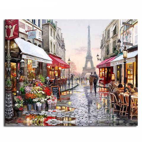 DIY Oil Painting - A Street in Paris - DIY Art Home Decor