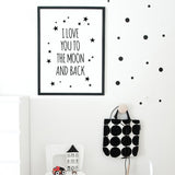 Frame less Canvas Art - Love Quote - DIY Art