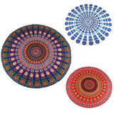 Indian Mandala Tapestry - Peacock Pattern - Round - Home decor