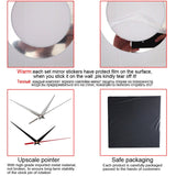 3D Acrylic Mirror Modern Girl DIY Wall Clock