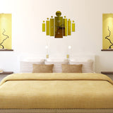 Acyrlic Mirror Wall Clock - Contemporary- Gold - DIY Wall Clock