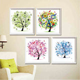 "5D Four season trees diamond artwork Kit - 11.7""x11.7"" - DIY Diamond Art"