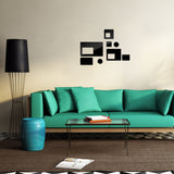 Acrylic Mirror Wall Stickers - DIY Room Decor - Rectangles - Black