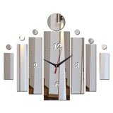 Acyrlic Mirror Wall Clock - Contemporary- Silver - DIY Wall Clock