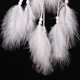 White Feathers - Hand made Dream Catcher - Home Decor