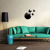 Acrylic Mirror Wall Stickers - DIY Room Decor - Butterflies - Black