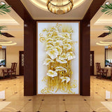 "5D Crystal lily flower diamond artwork Kit - 11.7""x21.8"" - DIY Diamond Art"