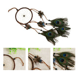 Majestic Peacock Feathers Dream Catcher - Home Decor