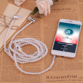 09b7d2ca282 Pearl Plated Necklace Design Earphone ...