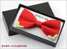 2017 Polyester silk adjustable wedding bow tie