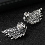 New Trend Silver Wing Earings