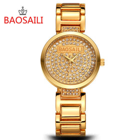 BAOSAILI Sparkling Rhinestone Dress Watch