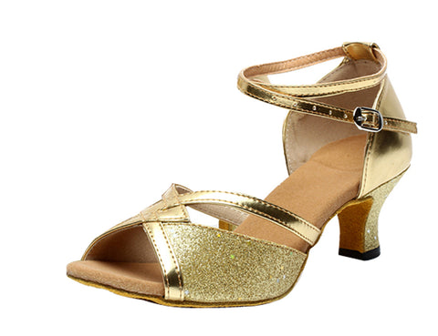 Women's adult buckle 5.5 square Latin dance shoes