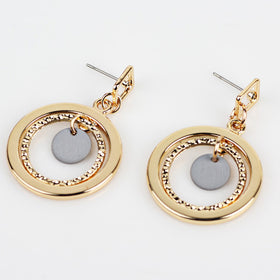 2017 Korean version Geometric exaggerated earrings