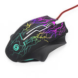 3200DPI LED Optical 6 Buttons 6D USB Wired Adjustable Gaming Mouse