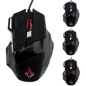 Professional 7 Buttons LED USB Optical Wired Gaming Mouse