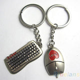 Mouse Keyboard Couple Keyrings