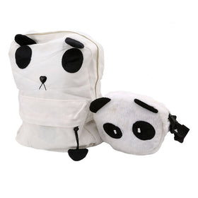 Cute Girl Style Panda Backpack Set
