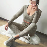 Spring Autumn Ladies Tracksuit Set