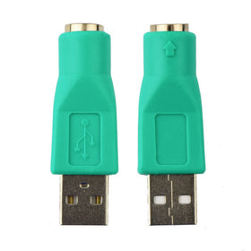 New USB Male To For PS2 Female Adapter Converter for Computer PC Keyboard Mouse