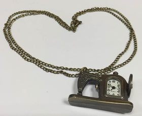 Retro Antique Sewing Machine Design Alloy Pocket Watch