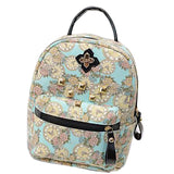Canvas Flowers Animal Shoulder School Bag