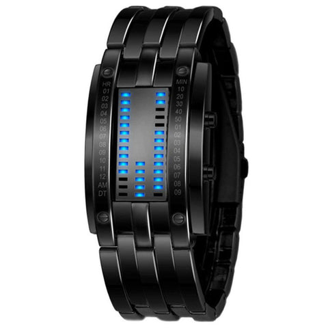 Women's  Blue Binary Luminous Date Digital Luxury Watch