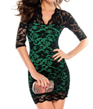 Hot Stylish Women's Mini Lace Dress