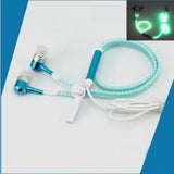 MoreBlue Luminous Night Earphones Sport Earpieces With Mic