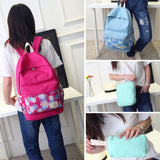 3 pcs/set Dot shoulder school bags for Women