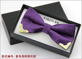 fbe5ed51c9a ... 2017 Polyester silk adjustable wedding bow tie ...