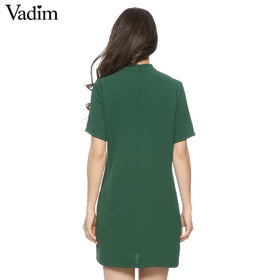 Casual streetwear V neck dress