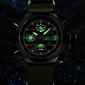 Cool Men Military Waterproof Stop Watch