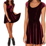 Evening Elegant Velvet Skater Dress