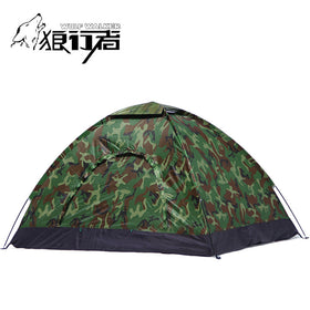4 people camping Tent Portable Single Layer carpas 4 Person outdoor Waterproof Beach barraca Camouflage Tents 200*200cm