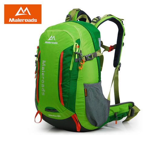 Maleroads 40L waterproof outdoor hiking backpack camping mochila travel rucksack mountain climbing bag pack for women men
