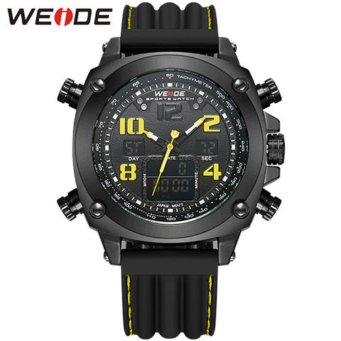 11ce5c20203 2016 WEIDE Quartz Mens Watches Men Luxury Brand LED Digital Army Military