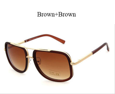 Flat Top Hot Square Sunglasses Men Women Luxury Brand Design Couple