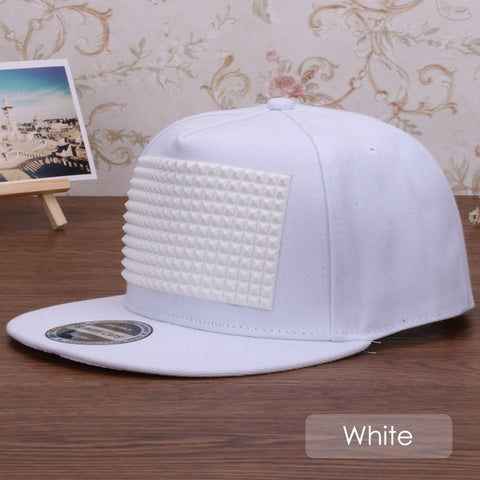 Fancy 3D snapback cap raised soft silicon square pyramid flat baseball