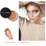 Mineral Bronzer Powder Oil-Control Pore Covers Face Contour Loose Powder Cosmetics