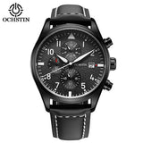 Business Watches Men Chronograph Date Luminous Quartz-Watch Men's Brand Luxury