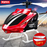 Syma Mini Indoor Aluminum RC Helicopter with Light Built in Gyroscope Remote Control Drone Toys Red Yellow Color Free Shipping