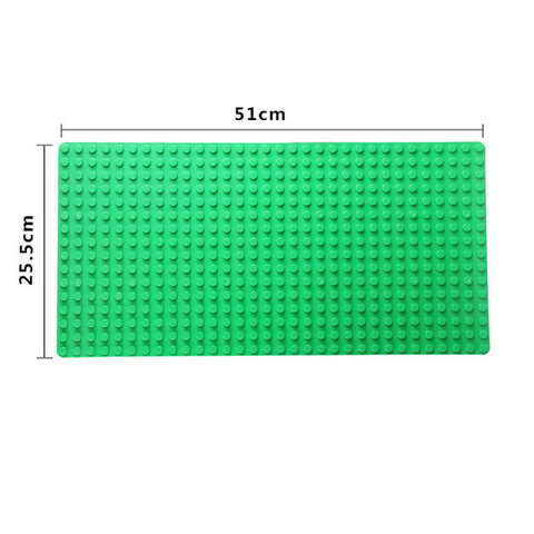 Big Blocks Base Plate 51*25.5cm Baseplate Compatible with major brand blocks