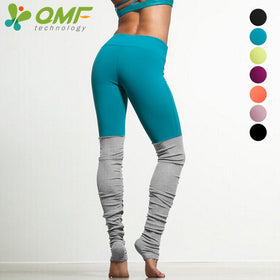 Green Running Tights Yellow Sports Leggings Pink Yoga Pants Patchwork Fitness Skinny Pants Slim Women Gym Leggings Push Up Sexy